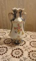 Royal Dux virágos kis váza 13 cm