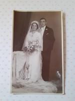 Régi esküvői fotó Apolló műterem menyasszony vőlegény fénykép