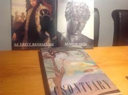 3 darab müveszeti könyv együtt