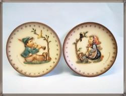 M.J. Hummel Goebel gyűjtői porcelán fali tányérok
