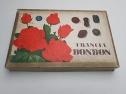Retro bonbonos doboz 1971 Francia bonbon Magyar Édesipar