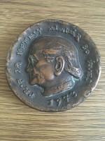 Madarassy Walter Prof dr. Kettesy Aladár 80éves bronz plakett