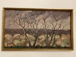 Szabó Pál ,festmény 95x45 cm