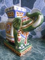 Virágtartó asztali elefánt kerámia indiai 18*18*8 cm