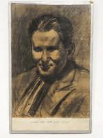 Balázs János: Nagy József portréja, szén rajz