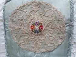 Antik zsebkendőtartó,borító