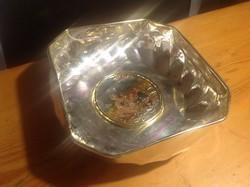 Kinàlo tàl ezüstözve közepe  festett jelzett 925 ezüst