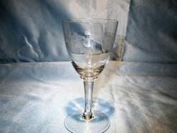 Régi szép talpas üveg pohár