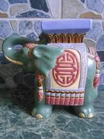 Virágtartó asztali elefánt kerámia indiai 27*23*12 cm