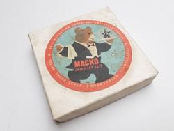 Retro Mackó sajtos doboz csomagolás papírdoboz