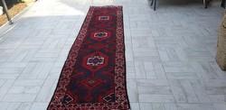 Irani hamadan 77x300 kézi csomózású gyapjú perzsa futó szőnyeg 45P_10