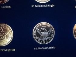 2.50 Gold Classic - legszebb amerikai érmék, ⌀ 39 mm, aranyozott replika