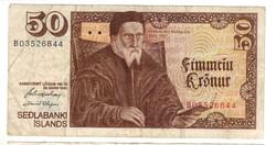 50 kronur 1961 Izland 1.