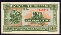 Görögország 20 drachma UNC 1940
