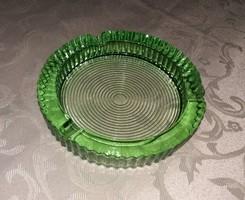 Zöld üveg kristály hamutartó hamutál