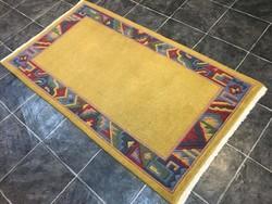 Domború mintás NEPÁLI kézi csomózású gyapjú szőnyeg, 93 x 170 cm