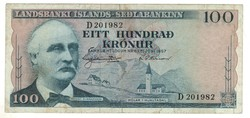 100 kronur 1957 Izland