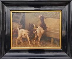 Heyer Artúr / Játszadozó kecskék