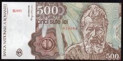 Románia 500 lei UNC 1991