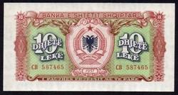 Albánia 10 lek UNC 1957