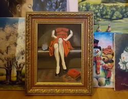 Arcnélküli világ - akrilfestmény