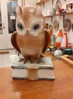 Zsolnay Retro Porcelán Bagoly Figura