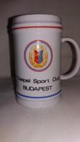 Csepel Sport Club Budapest hollóházi porcelán korsó