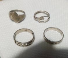 4 db /Régi  Jelzett   Ezüst  Gyűrű