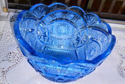 Kék ólomkristály  hibátlan  tál