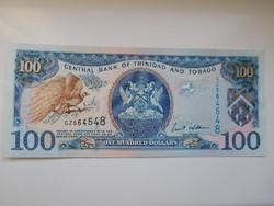 Trinidad & Tobago 100 dollár 2002 UNC  Ritka!