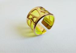 Les Georgettes - Ibiza állítható aranyozott sárgaréz gyűrű