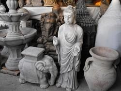 Nagy 95cm Kő Áldó  Buddha Feng shui Japán kert kerti Fagyálló kő szobor
