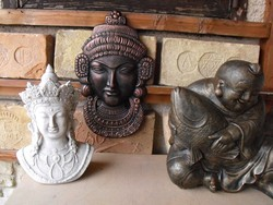 Nagy Keleti Shiva Buddha szobor  Fali Fém plakett  Feng Shui fal dísz