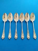 Ezüst barokk leveses  kanál 6 darab