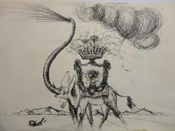 Salvador Dali eredeti rajza