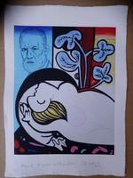 Dr Máriás sokszorosított grafika 42x30 cm kis példányszám