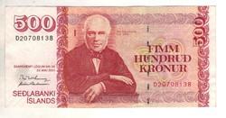 500 kronur 2001 Izland