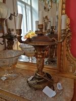 Asztali  lámpa pár aranyzott bronz. Díszes.