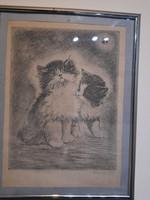 Macskás Rézkarc