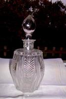 Ólomkristály súlyos  likőrős  palack -szép kézműves munka