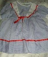 Babára matrózruha / 60-70 cm magas babára/