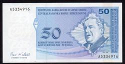 Bosznia 50 pfeniga (szerb) UNC 1998