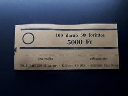 Retró bankjegykötegelő szalag 50 Ft-os bankjegyhez - Papírpénz kötegelő bankjegyszalag