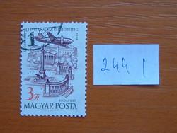 MAGYAR POSTA 3 FORINT 1958 évi légiposta - A magyar légipostai bélyegek 40. évfordulója 244 I