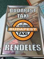 Budapest Taxi tükrös reklám