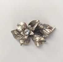 Ezüst virágdísz