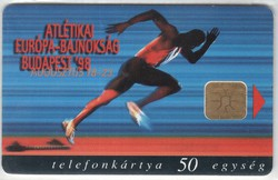 Magyar telefonkártya 0310  1998 Atlétikai EB.     200.000 Db-os