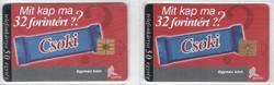 Magyar telefonkártya 0315  1998 Csoki GEM 1 - GEM 3  .     50.000-150.000  Db-os