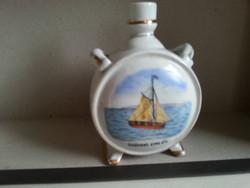 Zsolnay   porcelán palack Siófoki Emlék