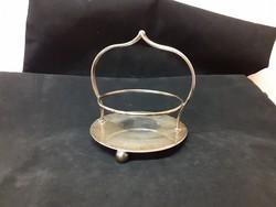 Gyönyörű antik, ezüst bevonatú, ezüstözött jelzett pohártartó, angol, EPNS